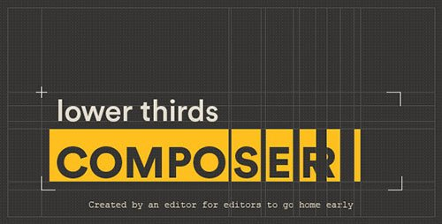 Lower Thirds Composer - After Effects Script (Videohive)