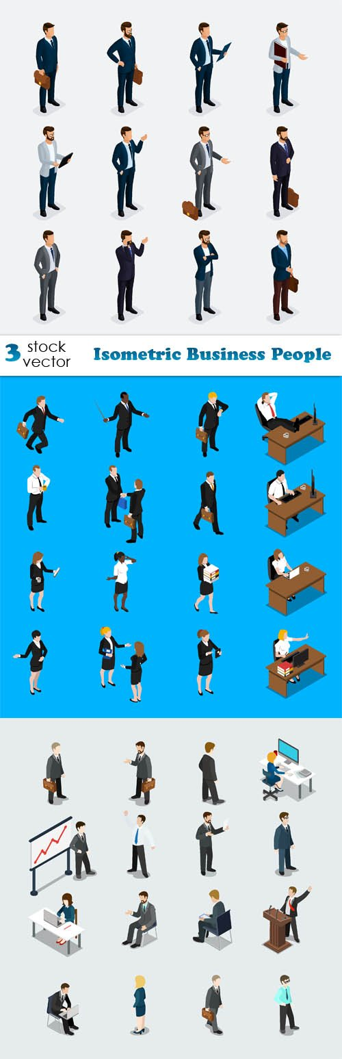 Vectors - Isometric Business People