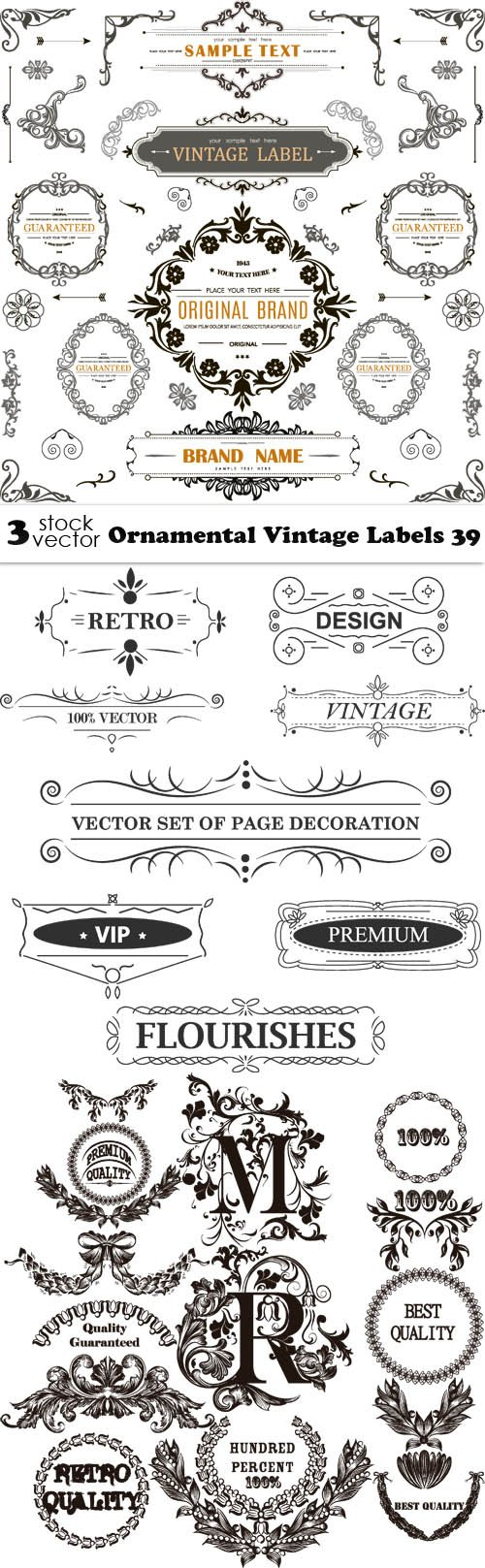 Vectors - Ornamental Vintage Labels 39