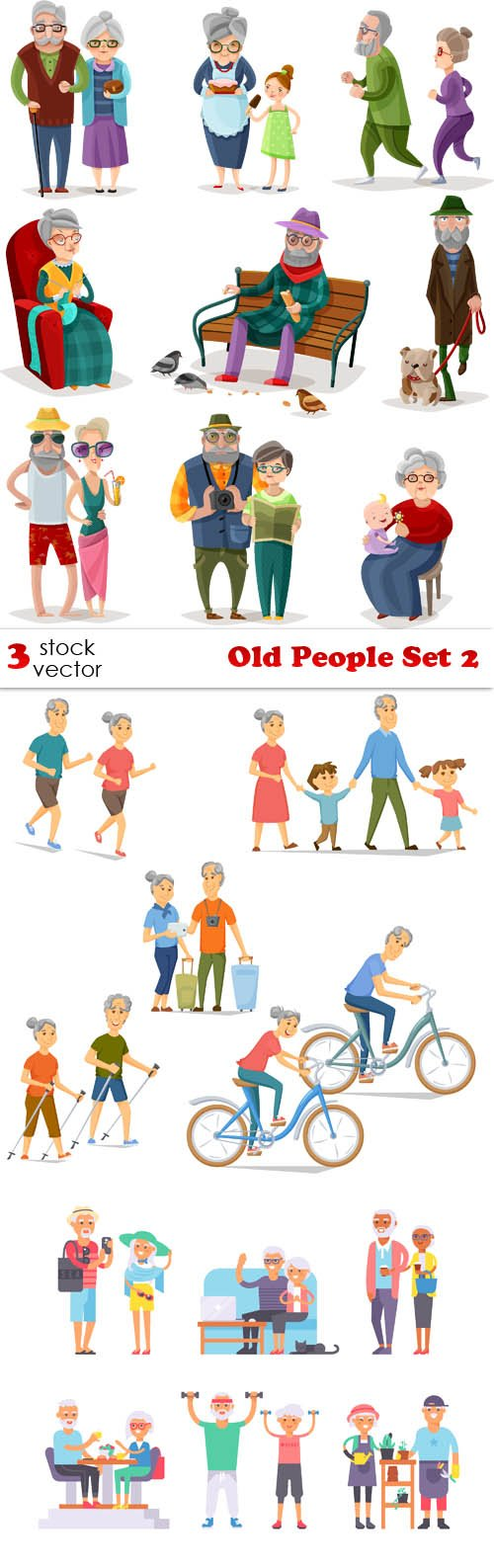 Vectors - Old People Set 2