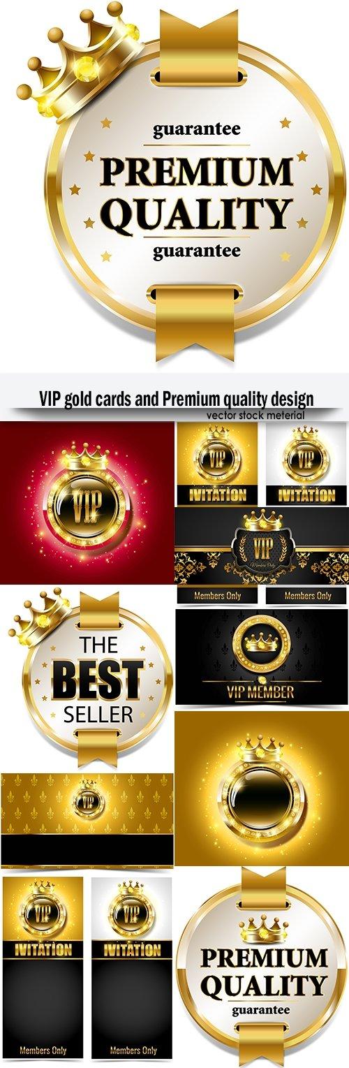 VIP gold cards and Premium quality design