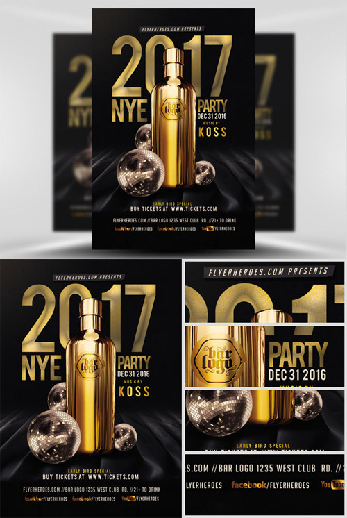 Flyer Template - NYE Party 2017