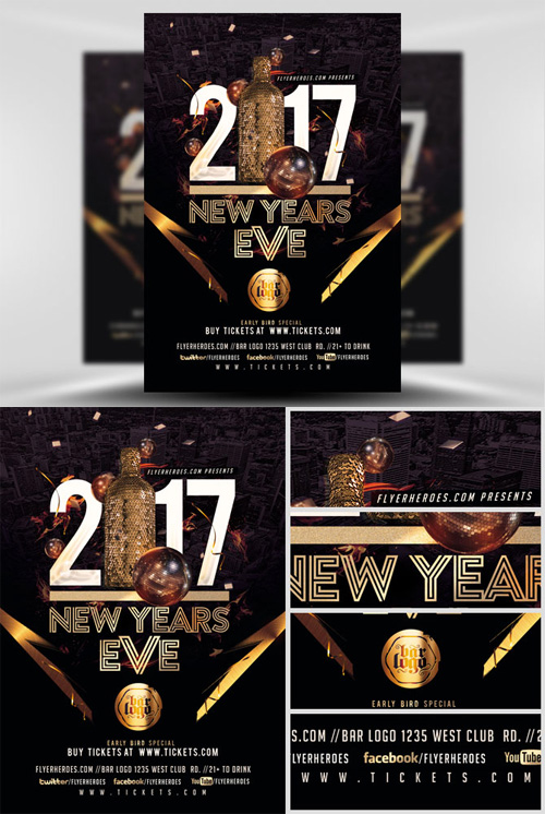 Flyer Template - NYE Party 2017 V3