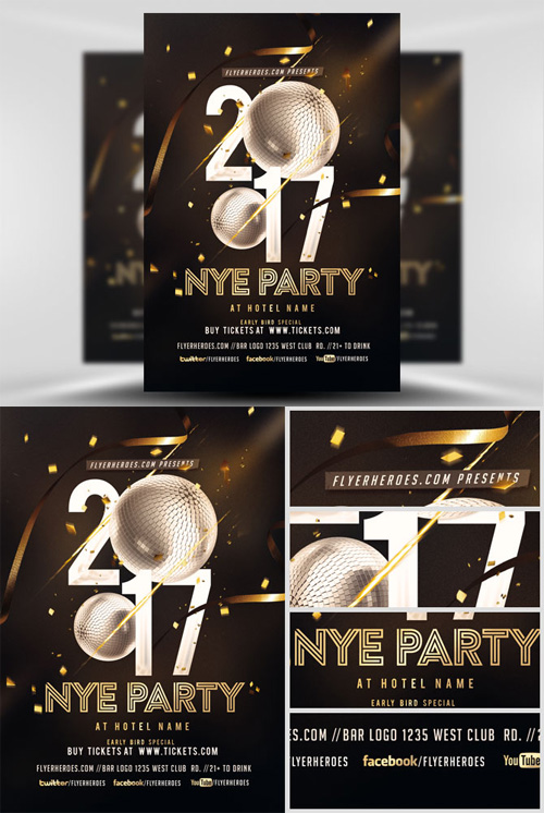Flyer Template - NYE Party 2017 V2