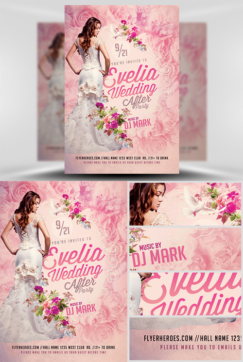Flyer Template - Wedding After Party