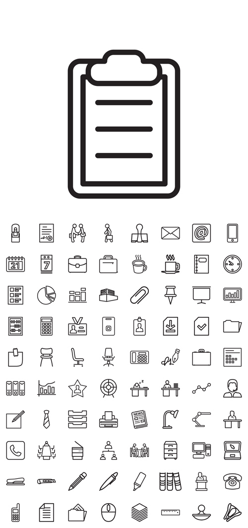 Vector Business Office Line Icons