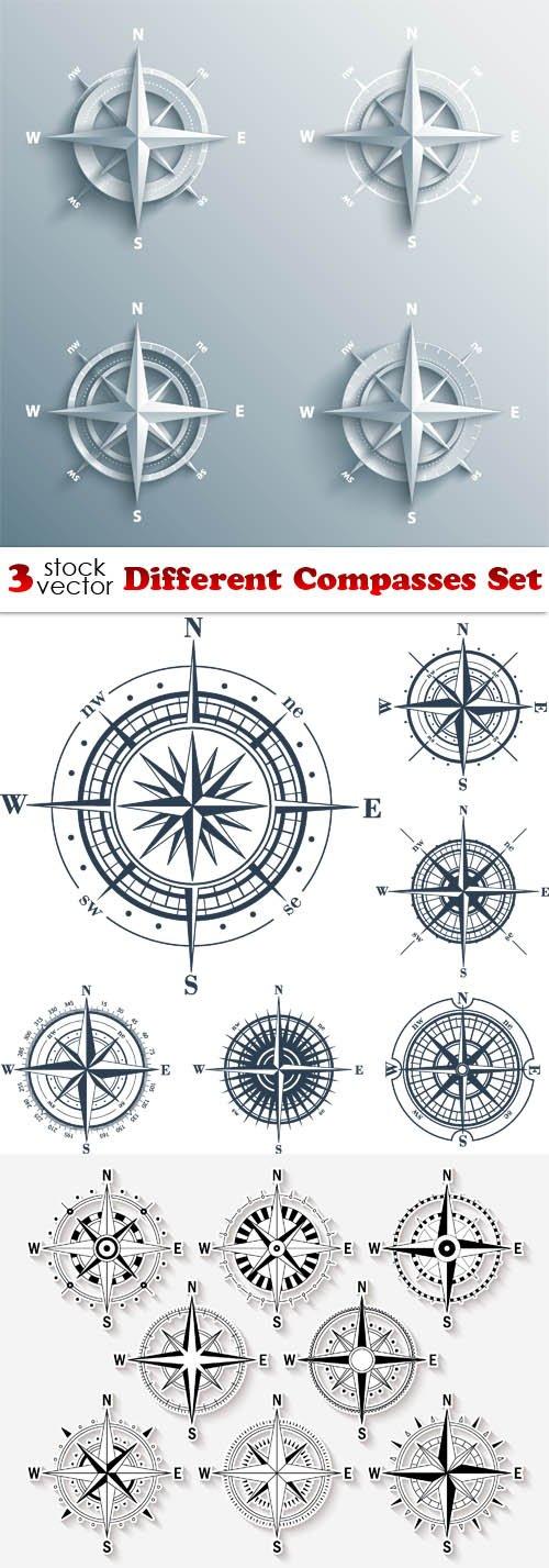 Vectors - Different Compasses Set