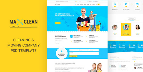 Max Cleaners & Movers - PSD Template 11551677