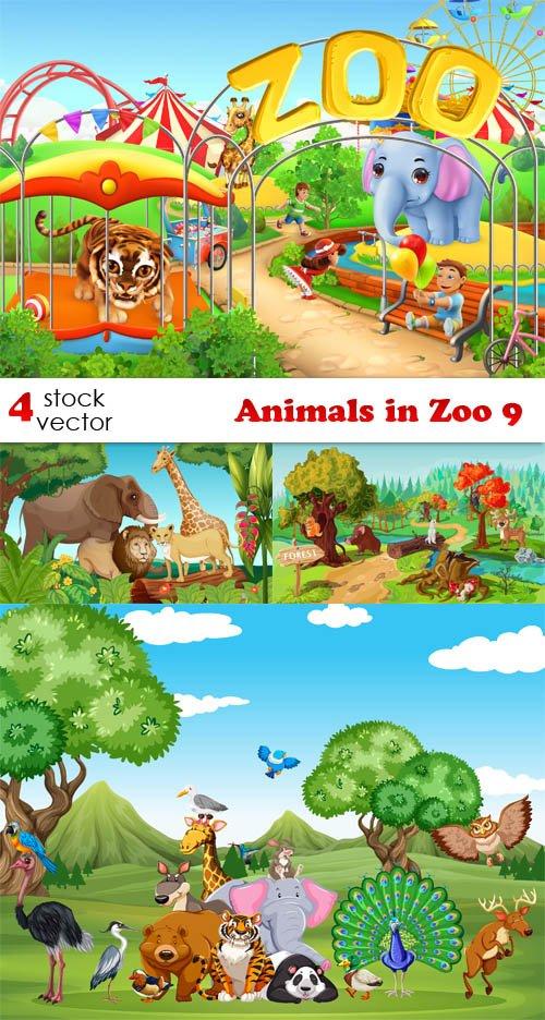 Vectors - Animals in Zoo 9