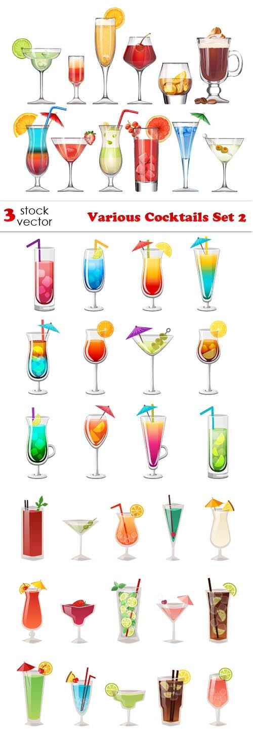 Vectors - Various Cocktails Set 2