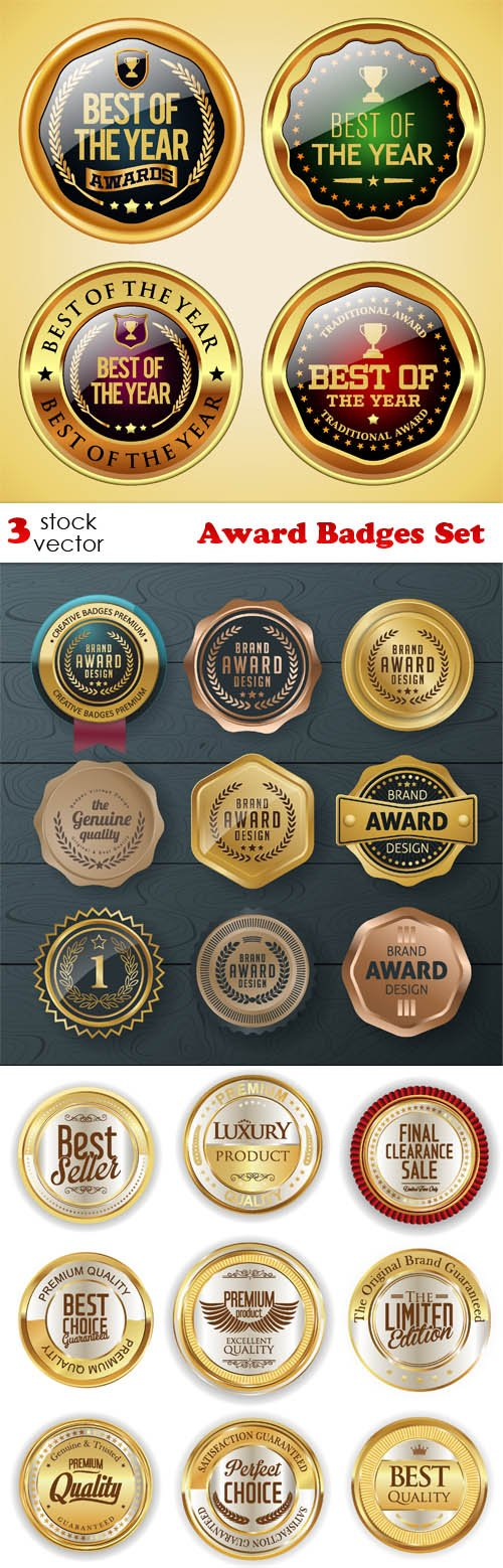 Vectors - Award Badges Set