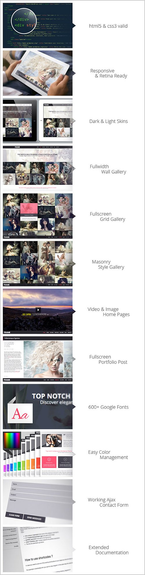 GT3Themes - Frame Photography Responsive Website Template