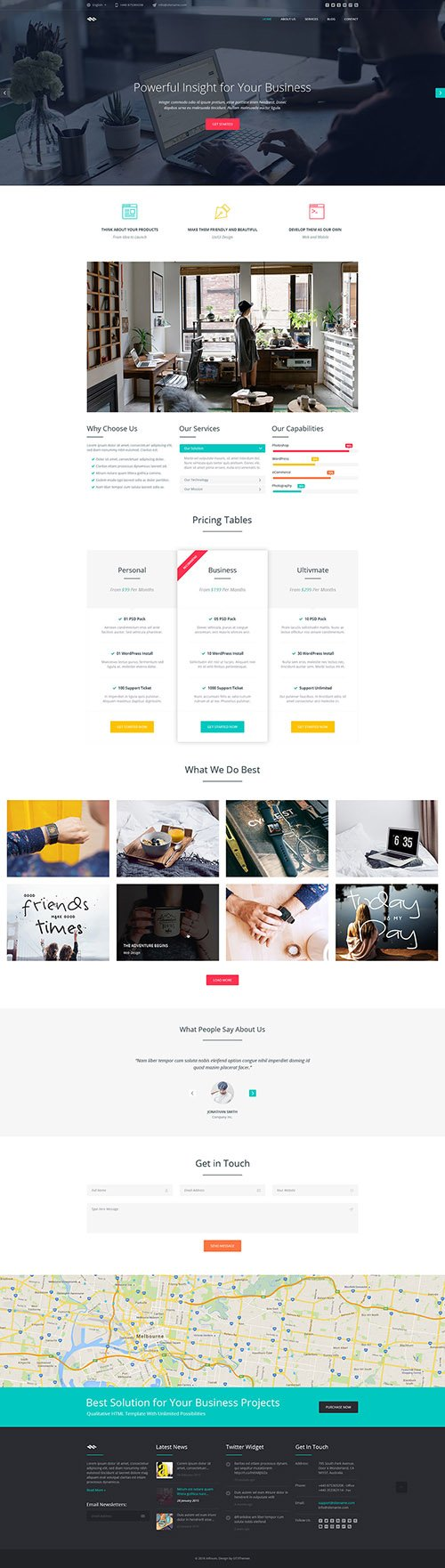 GT3Themes - Business One Page HTML Template - Infinum