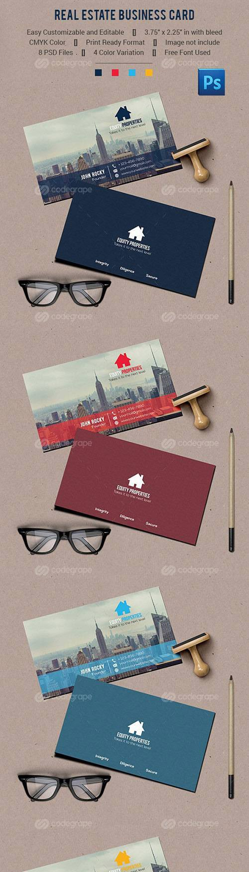 CodeGrape - Real Estate Business Card 10880