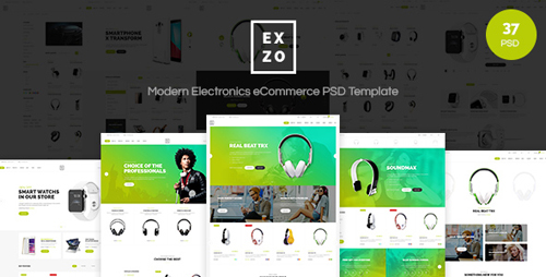 Exzo - Modern Electronics eCommerce PSD Template 15777937