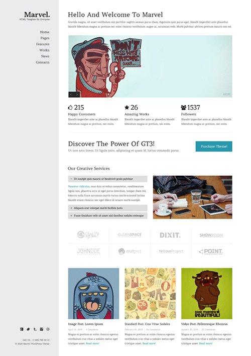 GT3Themes - Marvel Creative Portfolio Website Template