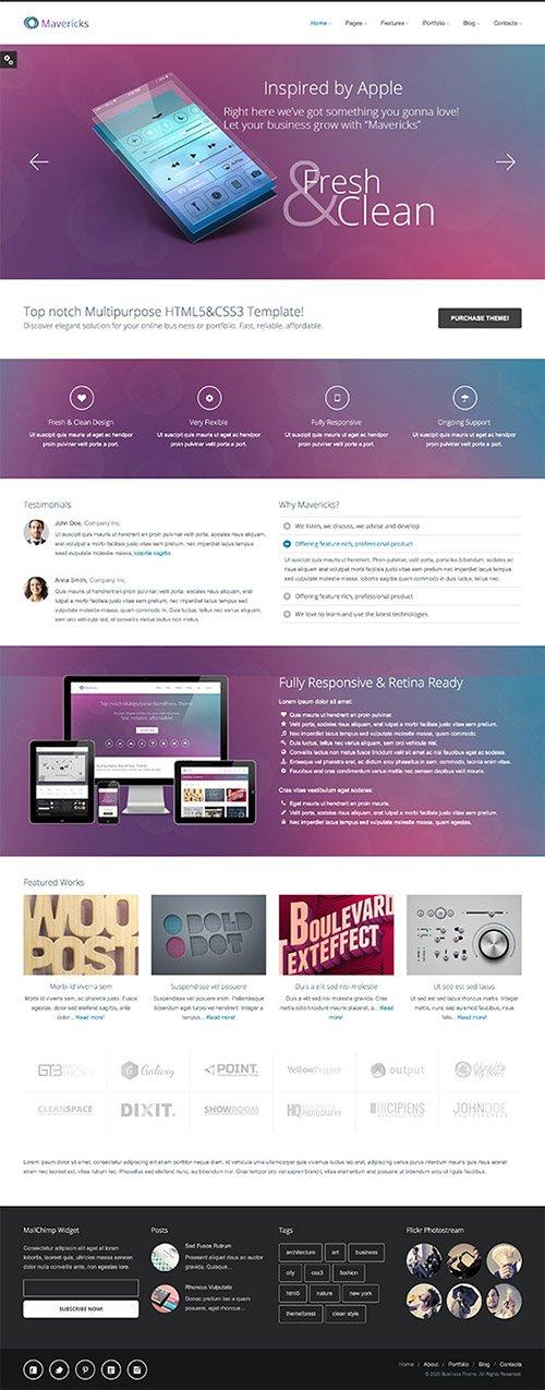 GT3Themes - Mavericks Business and Portfolio Web Template