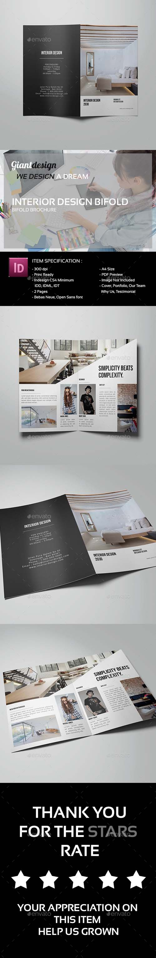 Interior Design Bifold Brochure 13681663
