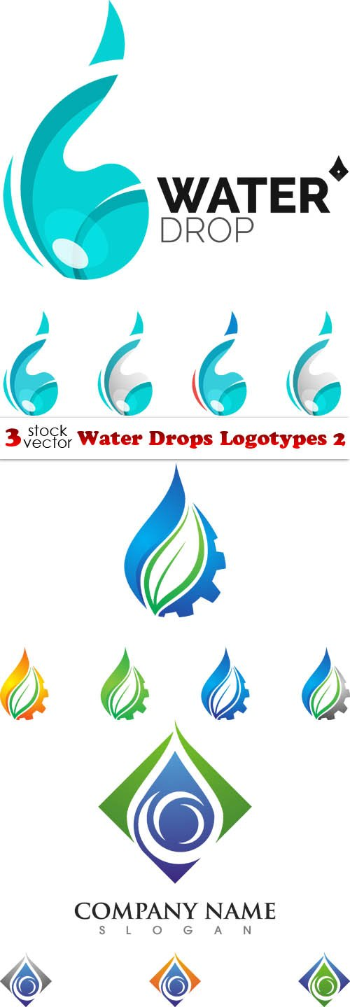 Vectors - Water Drops Logotypes 2