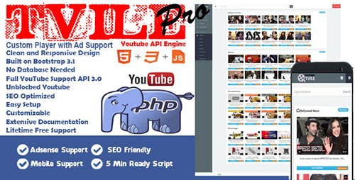 CodeGrape - Tube Youtube API Engine Pro v1.0 - 6957
