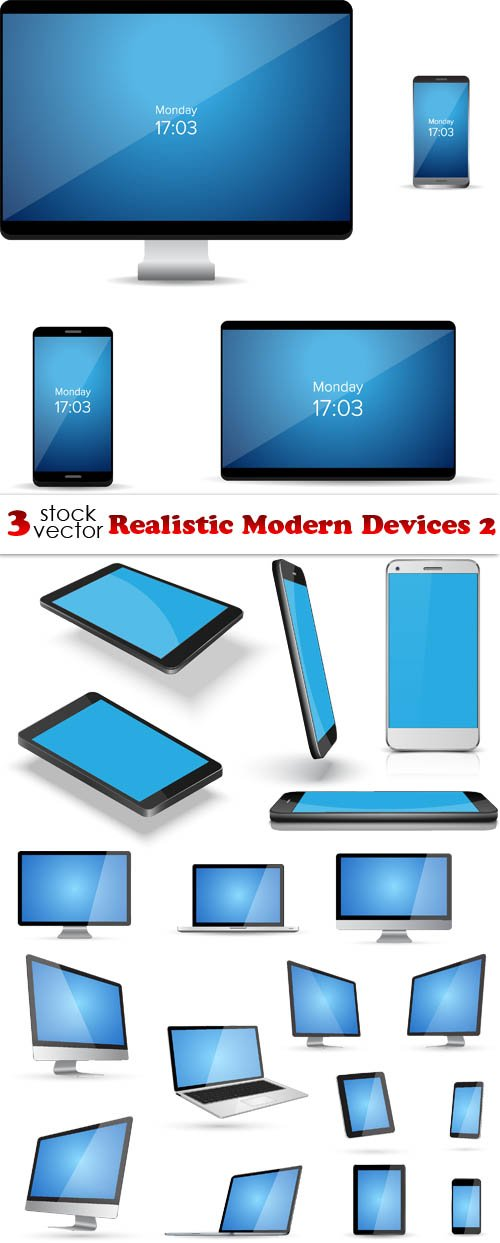 Vectors - Realistic Modern Devices 2
