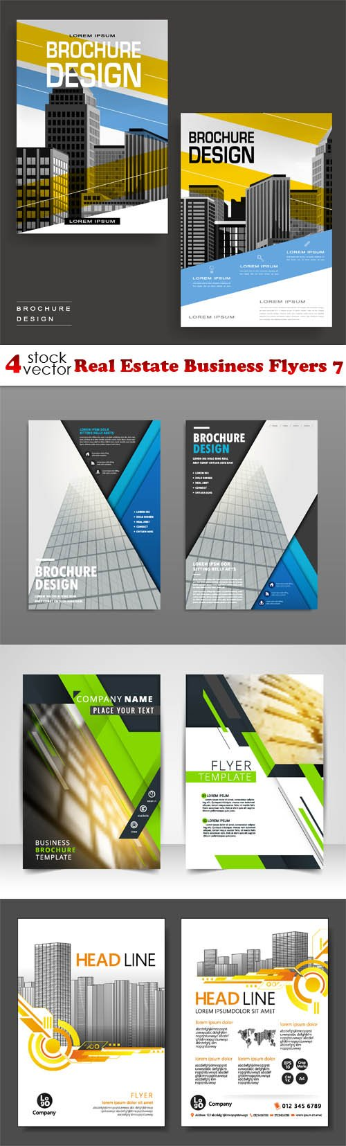 Vectors - Real Estate Business Flyers 7