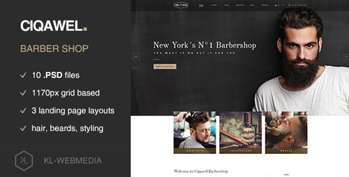 Cigawel - Barbershop PSD Template 16705208