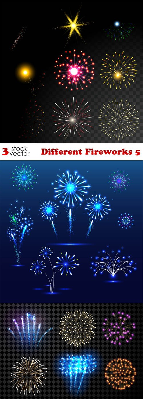 Vectors - Different Fireworks 5