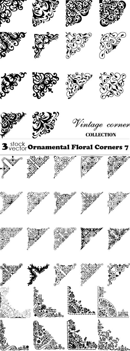 Vectors - Ornamental Floral Corners 7
