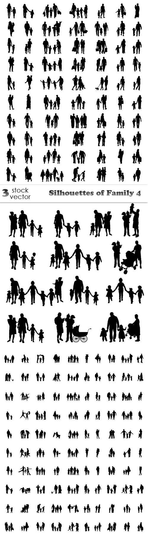 Vectors - Silhouettes of Family 4
