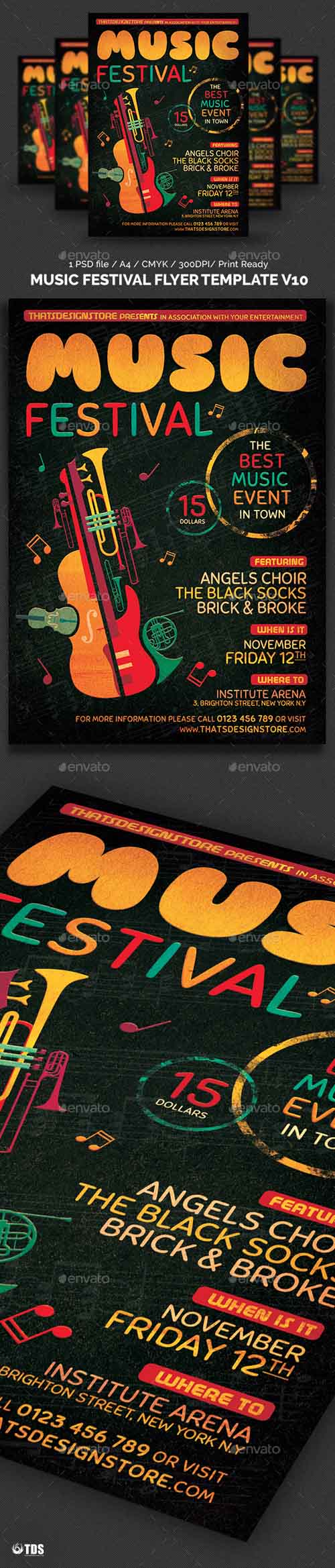 Music Festival Flyer Template V10 12479217