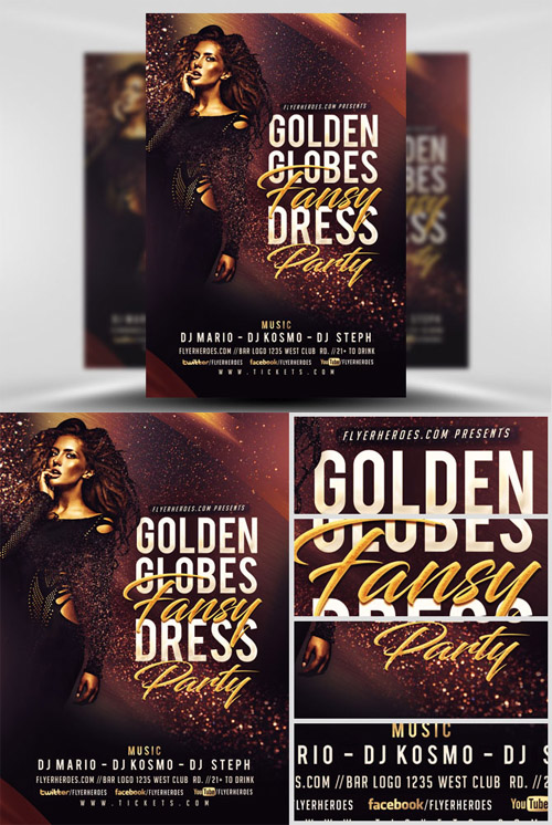 Flyer Template - Golden Globe Fancy