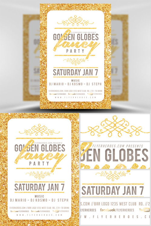 Flyer Template - Golden Globe Fancy V2