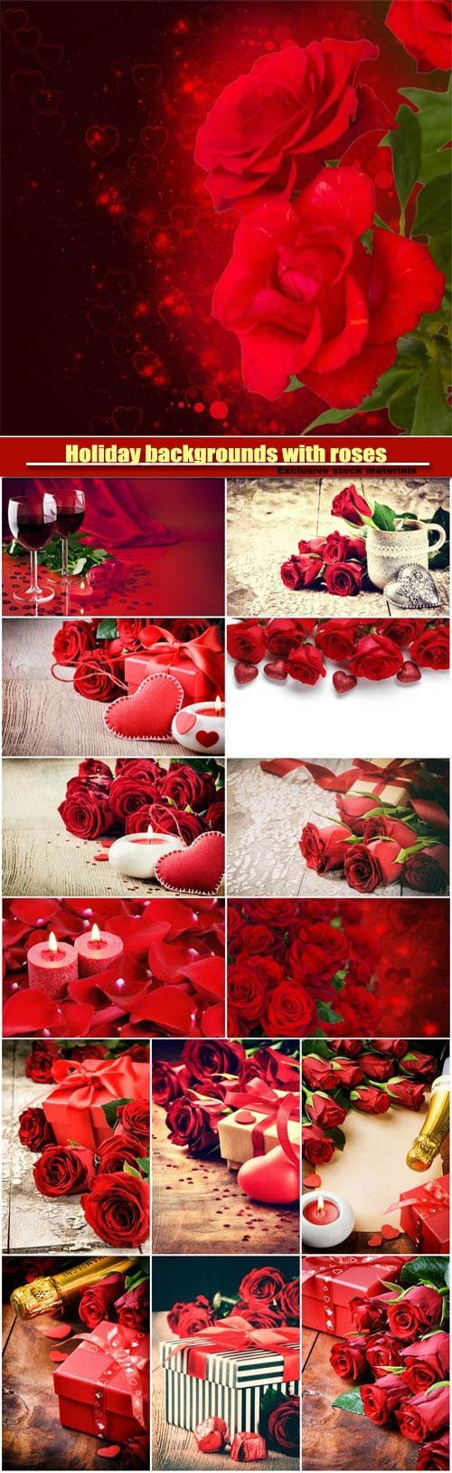 Holiday backgrounds with roses