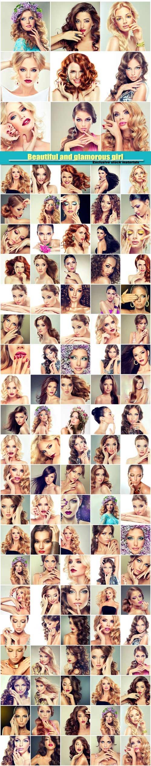 Beautiful girls, trendy, stylish and glamorous women