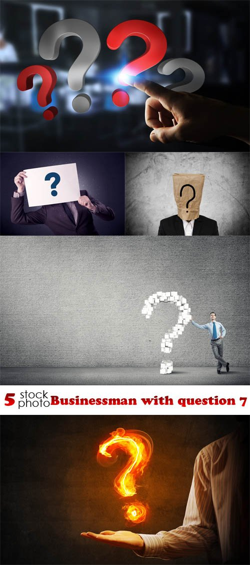 Photos - Businessman with question 7