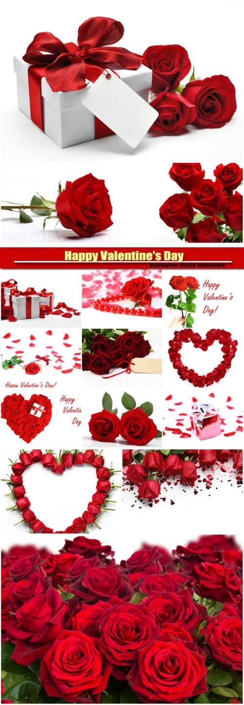 Beautiful backgrounds with roses, valentines day