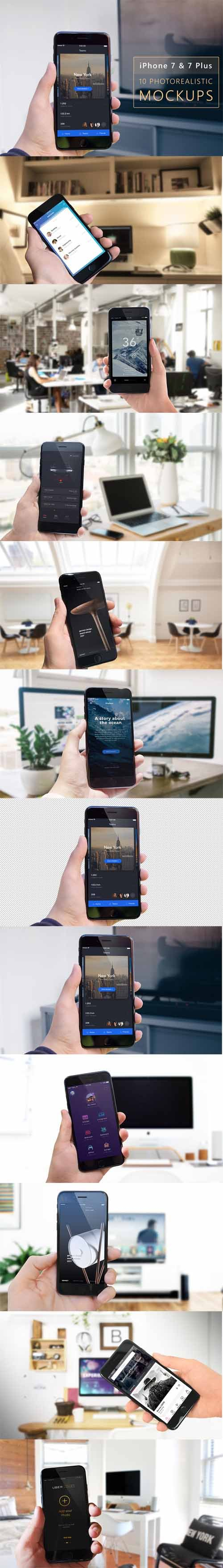 Photo Realistic IPhone 7 & 7 Plus Mock-Up v2