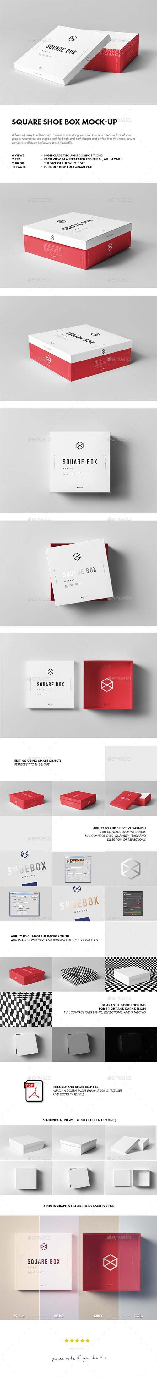 GR - Square Shoe Box Mock-up 19137172