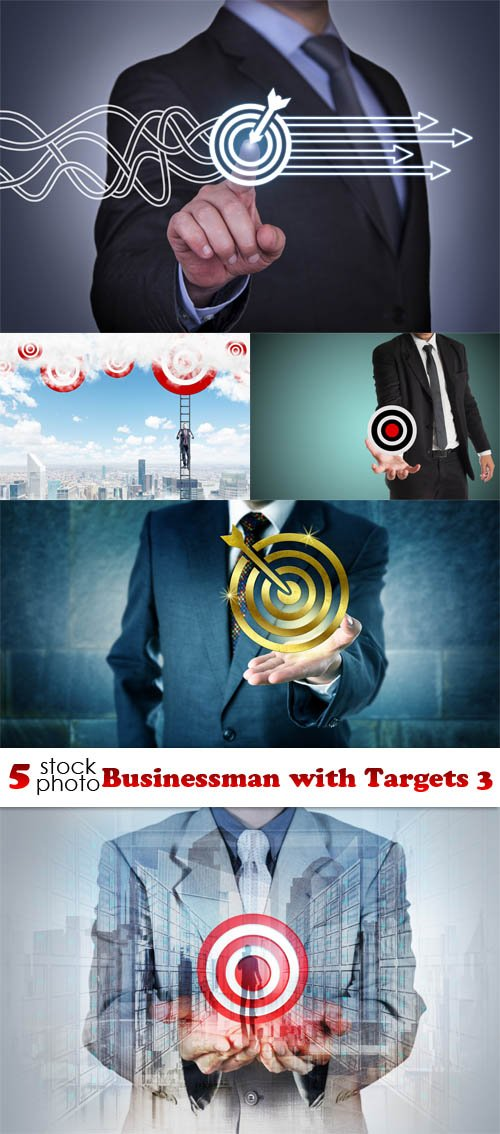Photos - Businessman with Targets 3