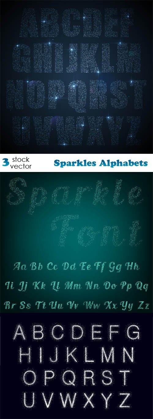 Vectors - Sparkles Alphabets