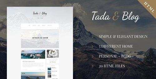 ThemeForest - Tada & Blog v1.0 - Personal Blog HTML Theme - 17269357