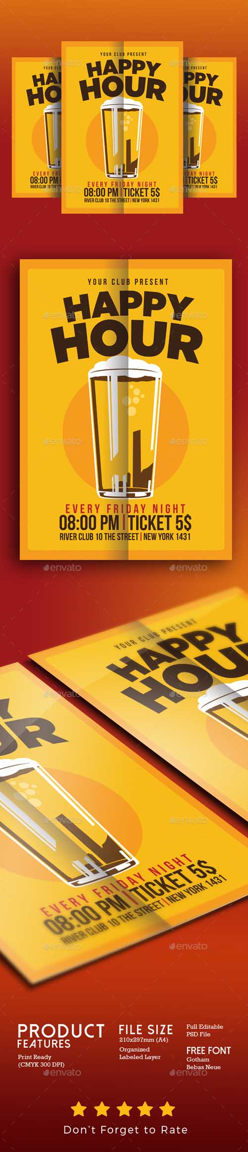 Happy Hour Beer Promo 17328854