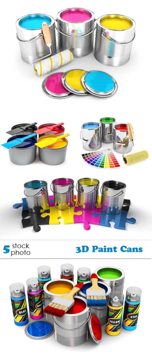 Photos - 3D Paint Cans