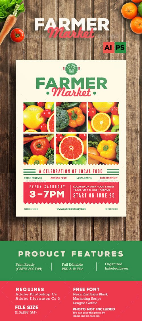 Farmer Market Flyer 13430883