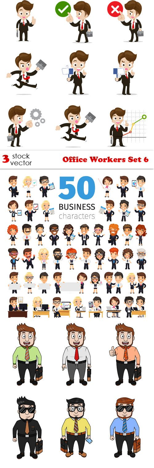 Vectors - Office Workers Set 6