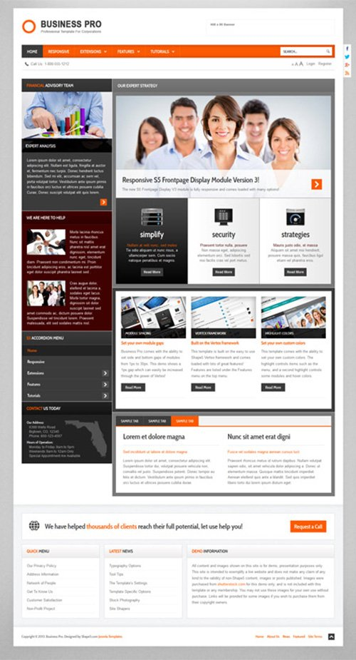 Shape5 - Business Pro v2.0 - Wordpress Club Theme » NitroGFX ...