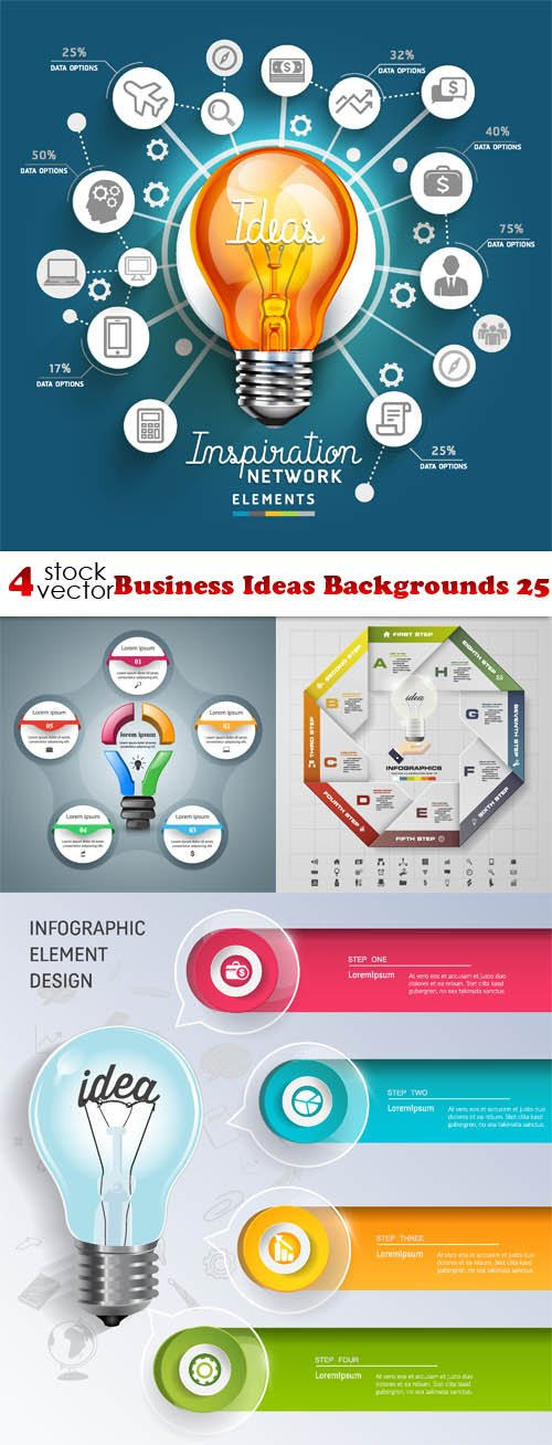 Vectors - Business Ideas Backgrounds 25