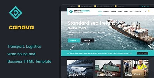 ThemeForest - Canava - Logistics and Business HTML Template (Update: 4 October 16) - 17510344