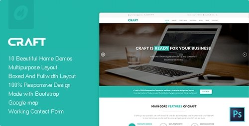 ThemeForest - Craft v1.0 - Multipurpose & Responsive HTML Theme - 16881642